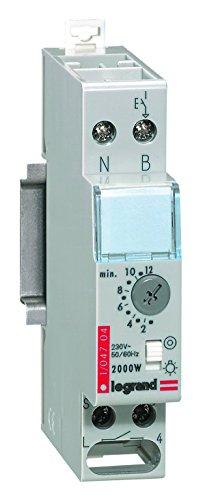 Legrand, Treppenlicht-Zeitschalter Rex800Multi, 230 V, 50/60 Hz, 1-modulig für Hutschiene mit separatem Steuerspannungseingang, 004704 -