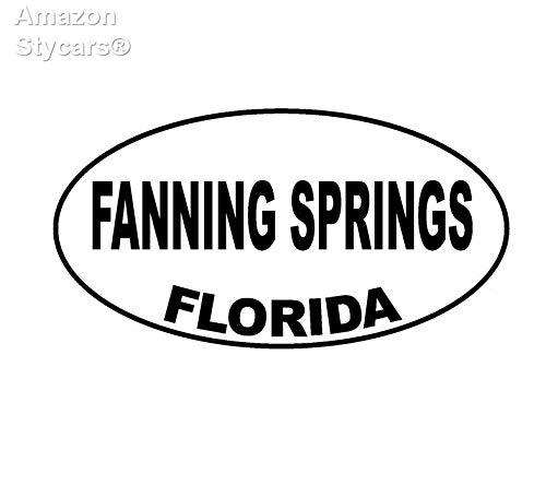 Price comparison product image Stycars® 13.5Cm*7.1Cm Fanning Springs Florida Oval Car Sticker Vinyl Decal Black