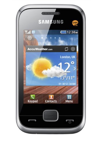 Samsung Mobile Samsung C3310 Champ Deluxe Smartphone (7,1 cm (2,8 Zoll) Touchscreen, 1,3 Megapixel Kamera, 30MB Speicher) metallic-silver