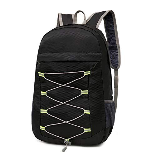 ALMRKS Seil-Skin-Pack, Herren Damen leichte Falttasche, Rucksack, Studententasche, Reisen, Sportrucksack,Black Iphone Skin Pack
