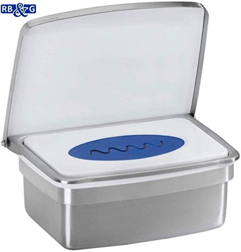 RB&G Premium Feuchttücherbox- aus hochwertigem Edelstahl/kein Austrocknen der Tücher