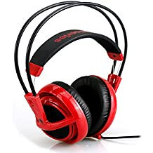 kaichen steelseries-v2–Casco Gaming- Micro rétractable- Software de configuration- (PC/Mac/Playstation/Mobile)–Forged Red