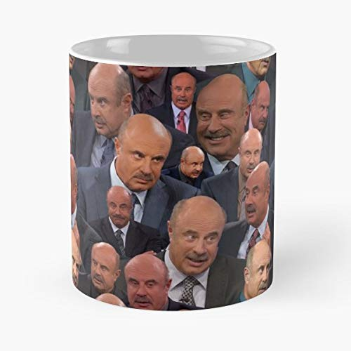 Dr Phil Doctor Television Pattern Photoshop Original Daytime - Best 11 Ounce Ceramica Coffee Mug Gift