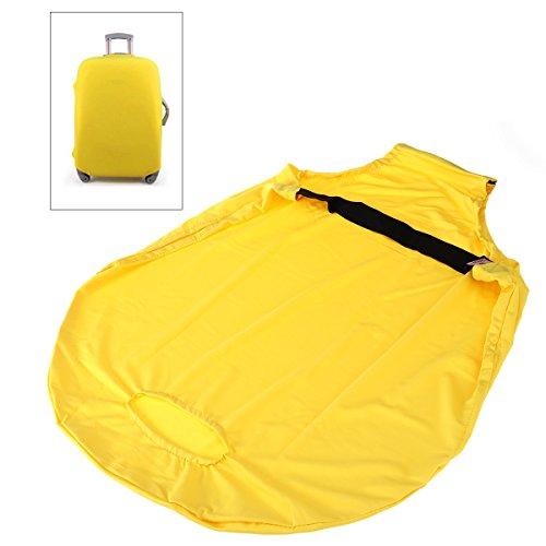 Tinksky Protector Elástico de la cubierta del equipaje A prueba de polvo Funda protectora de la maleta estirable, regalo para los amigos - Tamaño S (amarillo)