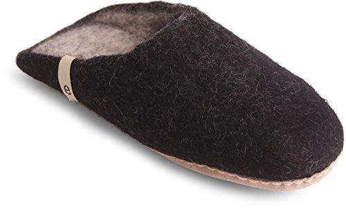 Egos  Simple, Herren Hausschuhe lindgrün 39 EU, schwarz - schwarz - Größe: Black