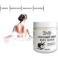Crema exfoliante corporal exfoliante corporal facial exfoliante de leche de coco Bulary, eliminación máxima posible