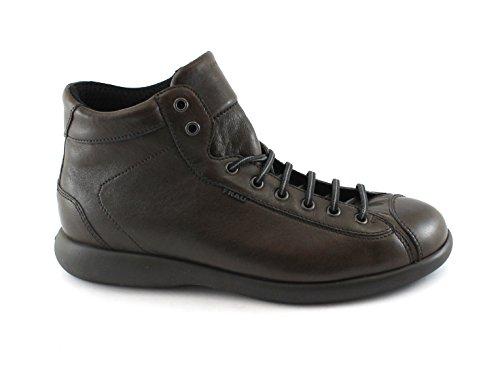 Frau 27T2 Chaussures Homme Brun Foncé Mi Bottes de Randonnée Peau de Confort
