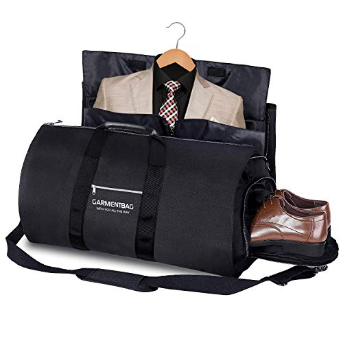 SURMTO Kleidersack Anzugtasche Anzughülle - Kleidersack Reisetasche, Multifunktion Tasche schlutertasche Anzugtasche Weekender für Business Reisen Urlaub Handgepäck Kleidersack Anzughülle(Schwarz)