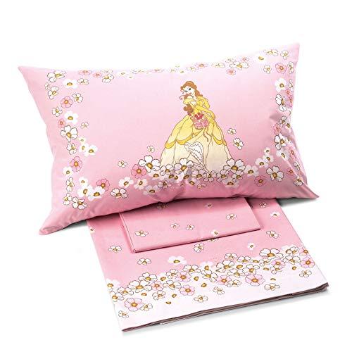 Caleffi completo una piazza principessa fiori disney lenzuola puro cotone 100% letto singolo