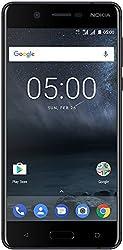 Nokia 5 Smartphone (13,2 cm (5,2 Zoll), 16GB, 13 Megapixel Kamera, Android 7.0, Dual Sim) satin-schwarz, version 2017