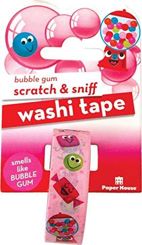 Paper House Productions STWA-1007 Washi Tape Kratz- und Gummiblaschengummi, Bubble Gum, 15 mm x 8 m, Einheitsgröße