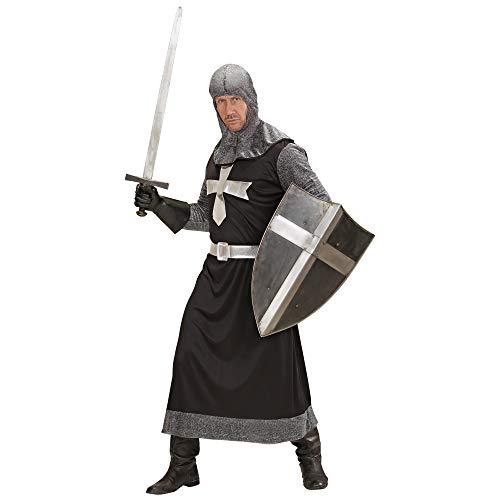 Für Herren Erwachsene Kostüm Crusader - Widmann 57323 - Erwachsenenkostüm Dark Crusader, schwarz, Größe L