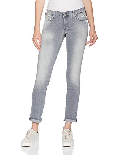 7 for all mankind Damen Slim Jeans Pyper, Grau (Slim Mistake Crystal Grey 0Dc), W31/L30 (Herstellergröße: 31)