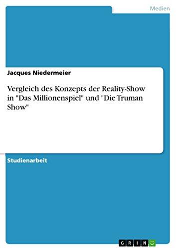 """Vergleich des Konzepts der Reality-Show in """"Das Millionenspiel"""" und """"Die Truman Show"""""""