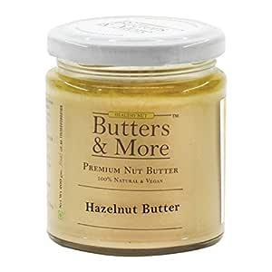 Butters & More Vegan Natural Hazelnut Butter (200G) Unsweetened Single Ingredient Nut Butter. Keto & Diabetic Friendly.