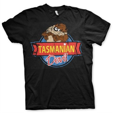 Offizielles Lizenzprodukt Tasmanian Devil Herren T-Shirt (Schwarz), XX-Large
