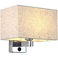 & Wandleuchten Wandleuchte E27 Moderne chinesische Art Nacht Leselampe Lampe Stoff Lampenschirm LED Schlafzimmer... preisvergleich bei billige-tabletten.eu