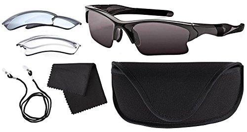 TCM Tchibo Sportbrille Brille Skibrille 100% UV Schutz 3 x Wechselgläser