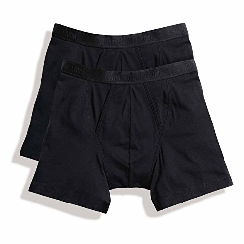 Fruit of the Loom: Herrenshorts Boxer (2er Pack) 67-026-7, Größe:2XL;Farbe:Black - The Loom Herren-unterhosen Von Of Fruit