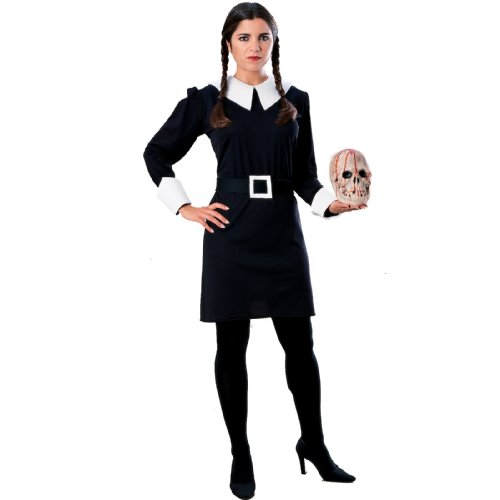 Dress Kostüm Fancy Addams Wednesday - Offizielles Wednesday™ -Kostüm der Addams Family™ für Damen Halloween - L