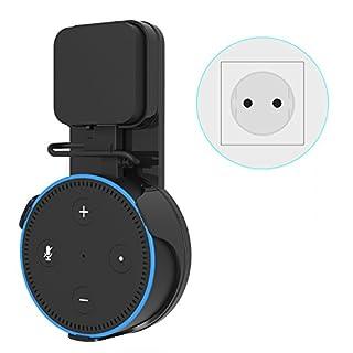 ieGeek Outlet Wandhalterung Halterung Ständer für Dot 2 Generation Original Stecker, Echo Dot Zubehör für Smart Home Lautsprecher keine Schrauben, Verwendung in Küchen, Wohnzimmer, Badezimmer und Schlafzimmer Schwarz