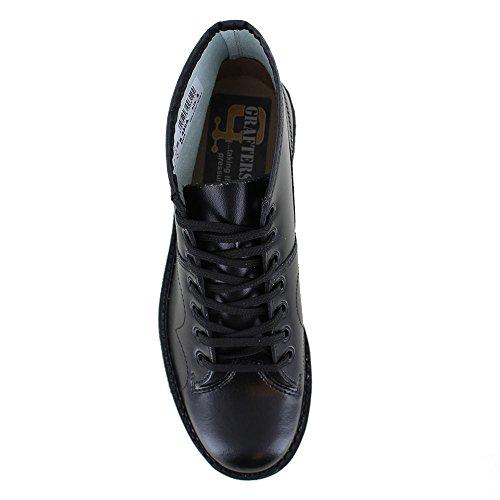 Roamer Men's Boys Original Monkey Boots Leather Schwarz
