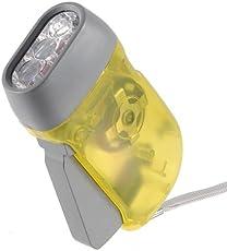 3 LED Hand Light Camping Taschenlampe Dynamolampe Lampe Leuchte Flashlight Torch Gelb