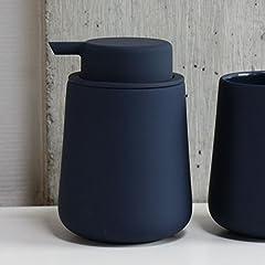 Idea Regalo - ZONE Denmark 362048 NOVA ONE Distributore di sapone di porcellana con Soft Touch, Ø 8 cm A 11,5 cm, 0,25 l - Royal Blue, blu scuro