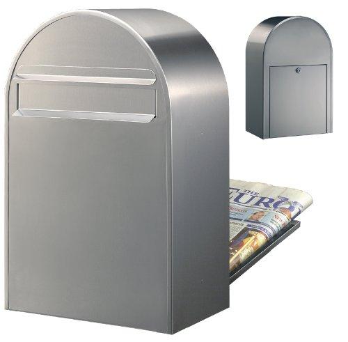 Bobi Classic B Briefkasten Edelstahl (V2A) Zaunbriefkasten