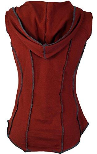Guru-Shop ElfenTop Goa-Chic, Damen, Baumwolle, Tops, T-Shirts, Shirts Alternative Bekleidung Rot