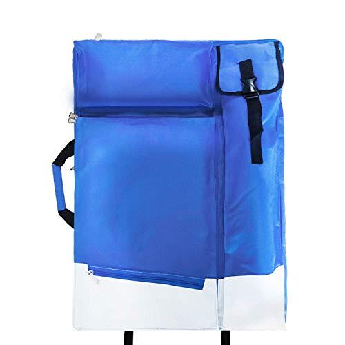 Tragetasche für Zeichenplatten Zeichenmappen Reisetasche Portfolio Transporttasche Zeichenbrett Rucksack Multifunktionale Tasche für Malerbedarf Skizzenwerkzeuge Zeichnung Künstler Malerei (Blau) - Zeichenblock Tasche