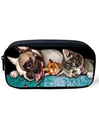 EasyBuy India Pet Dog Print Women Cosmetic Cases Kids Animal Pencil Pouch Makeup Bags Dog Husky Printed Pencil... - B076YDG8DQ