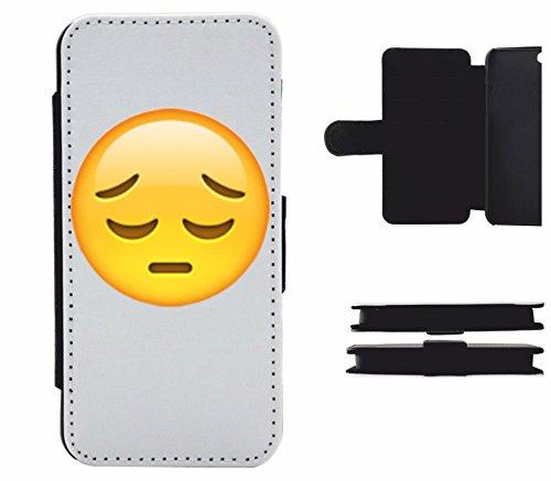 """Leder Flip Case Apple IPhone 6/ 6S """"Nachdenkliches Gesicht"""", der wohl schönste Smartphone Schutz aller Zeiten."""