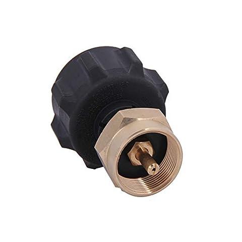 Terre étoile Safe Qcc1Régulateur Valve adaptateur recharge de propane pour acier propane Cylindre avec type 1–Compatible avec tous les 0,5kilogram jetable Cylinder-100% Laiton massif Régulateur Valve accessoire