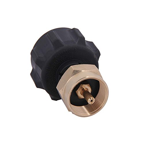 Earth Star Safe QCC1Regulator Ventil Propan Refill Adapter für Stahl Propan Zylinder mit Typ 1-Passend für alle 1Lb Throwaway cylinder-100% massivem Messing Regler Ventil Zubehör
