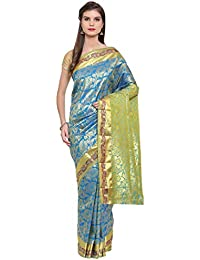 The Chennai Silks silk with blouse piece Saree (CCMYSS6215_ Blue_ Free Size)