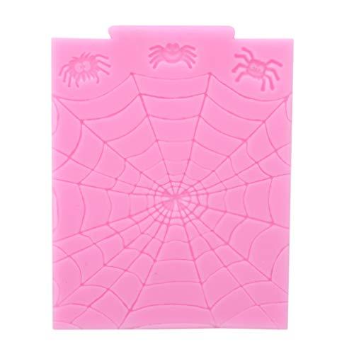 LJSLYJ Halloween Spinnennetz Silikon Fondantform Kuchen Dekorieren Werkzeug Schokoladenformen