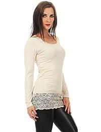f55d2d4e02971b Suchergebnis auf Amazon.de für: Langarmshirt Damen - Beige / Blusen ...
