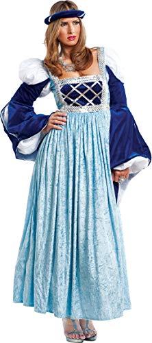 Kurtisane Halloween Kostüm - chiber Disfraces Damen-Kostüm Mittelalterliche Kurtisane (L