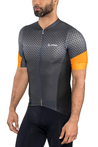LÖFFLER Pro Vent Bike Trikot Full-Zip Herren anthrazit/orange Größe EU 52 | L 2019 Radtrikot kurzärmlig -