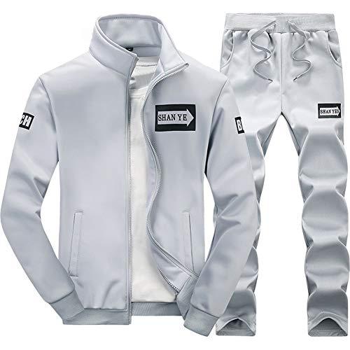 Grau Sweatsuit (ZWYY Herren Trainingsanzug grau grau XX-Large)
