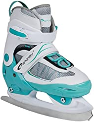 SPOKEY® XROUT Patines en línea / Patines hielo con el riel reemplazable | Niños | Mujeres | Inline Skates | ABEC7 | Cuchillas acero inoxidable | 30-33 | 34-37 | 38-41, Color:blanco;Spokey Größen:30-33
