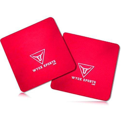 wyox Power Grip Gewicht Lifting Pads Workout Schaumstoff Hand Handschuhe Gym Fitness Paar, rot