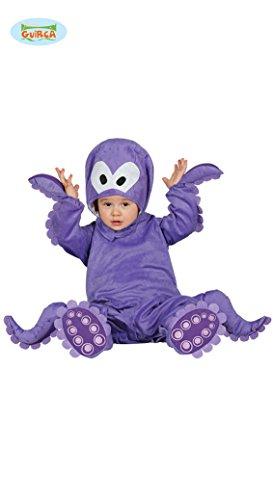 Babykostüm Krake Tintenfisch Krakenkostüm Octops Kostüm für Kinder Tierkostüm Gr. 74/92, Größe:86/92
