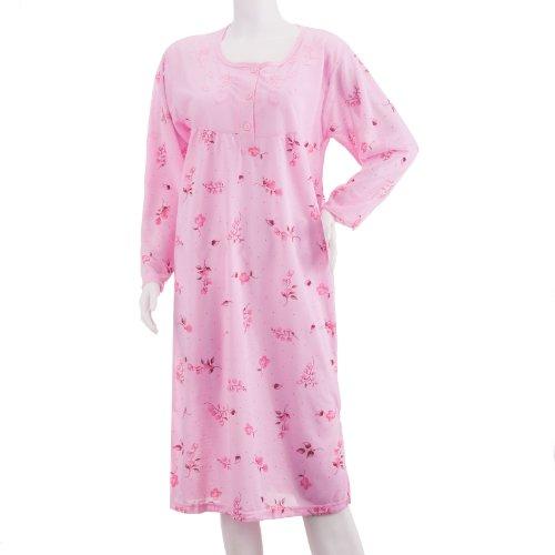 lucky-chemise-de-nuit-a-manches-longues-avec-grand-imprime-a-pois-et-broderie-decorative-de-qualite-
