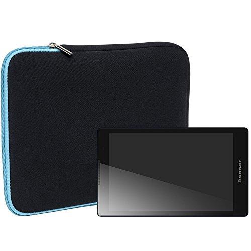 Slabo Tablet Tasche Schutzhülle für Lenovo TAB 2 A8-50F Hülle Etui Case Phablet aus Neopren - TÜRKIS/SCHWARZ