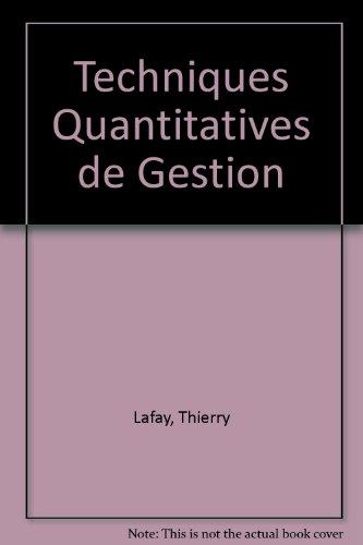 Techniques Quantitatives de Gestion