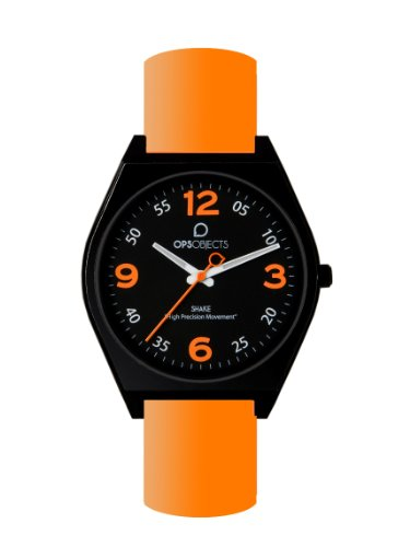 Ops Reloj con movimiento japonés Shake Naranja 40 mm