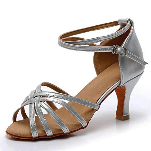 VASHCAME-Zapatos Baile Latino Tacón Alto/Medio