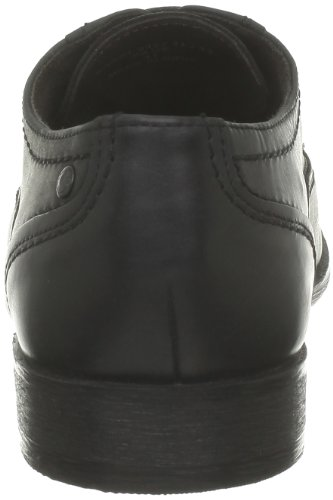 Base London Sage, Scarpe Stringate Uomo Nero (Noir (Waxy Black))